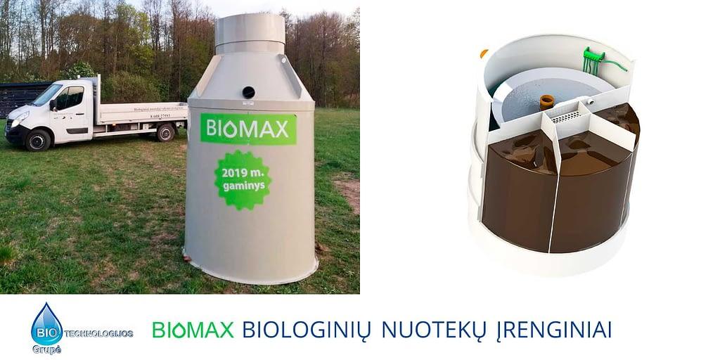 Biomax biologinių nuotekų valymo įrenginiai
