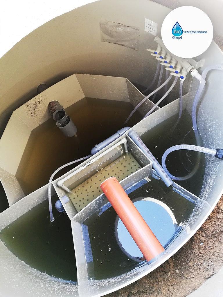 Veikiantis biologinių nuotekų valymo įrenginys